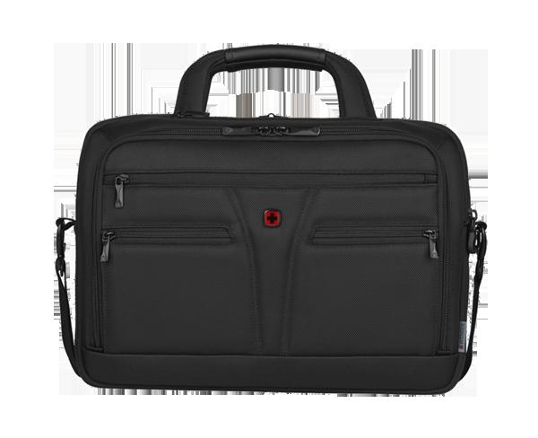 WENGER BC Star Expandable Laptop Brief Tablet Pocket Black