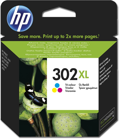 HP Tinte 302 CMY XL Cash Back